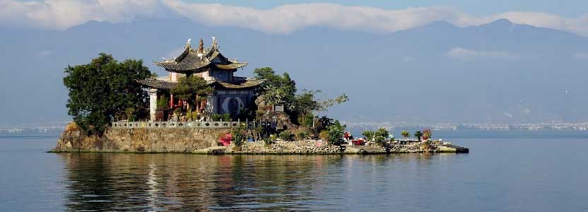 Erhai Lake nearby Dali - Yunnan province, China
